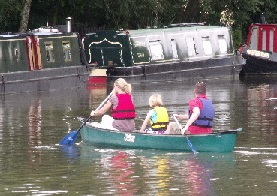 Canoeing in Thrupp Wide